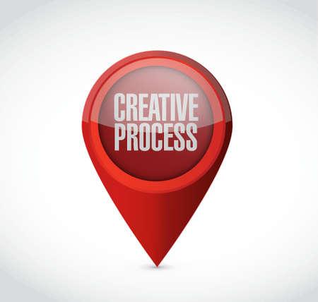 창의적인 프로세스 포인터 기호 개념 그림 디자인 일러스트