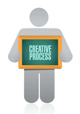 strategy meeting: creative process board sign concept illustration design Illustration
