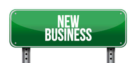 new beginning: new business road sign concept illustration design graphic