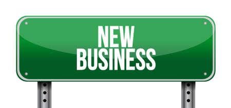 affari: nuovo segno concetto illustrazione grafica strada affari