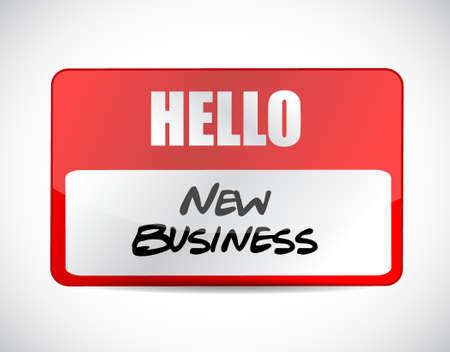 new business name tag sign concept illustration design graphic Illustration
