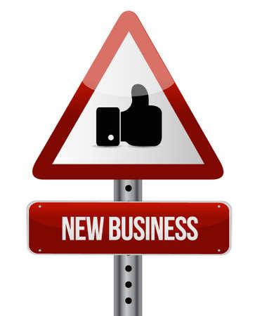 business like: new business like road sign concept illustration design graphic Illustration