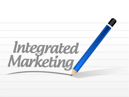 public market sign: Integrated Marketing message sign concept illustration design graphic icon