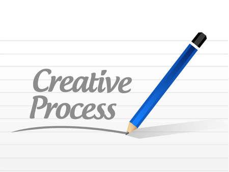 creative process message sign concept illustration design Illustration