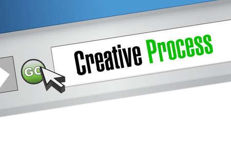 creative process online sign concept illustration design Illustration