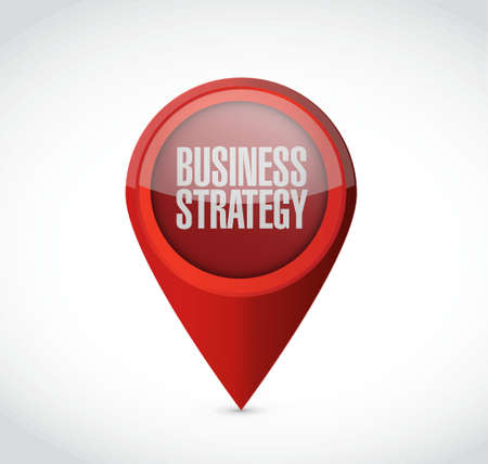 predict: Business Strategy pointer sign concept illustration design graphic