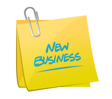memo: new business memo post sign concept illustration design graphic Illustration