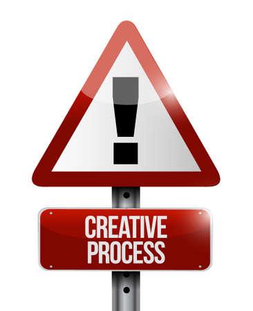 creative process warning sign concept illustration design Illustration