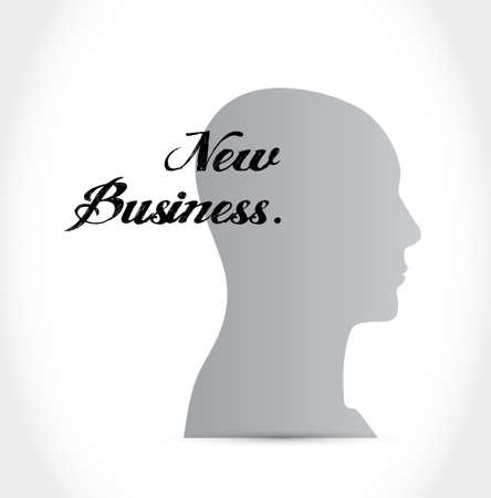 new business: new business mind sign concept illustration design graphic