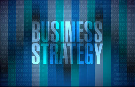 Business Strategy binary background sign concept illustration design graphic Ilustração