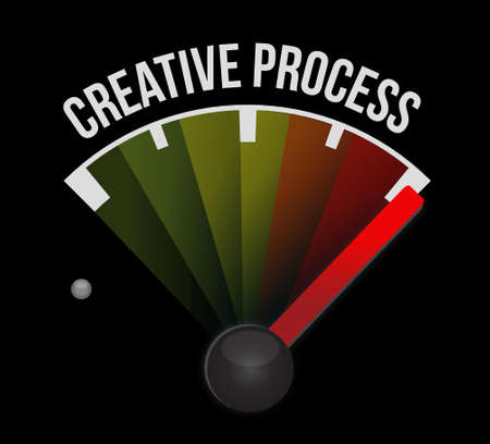 strategy meeting: creative process meter sign concept illustration design Illustration