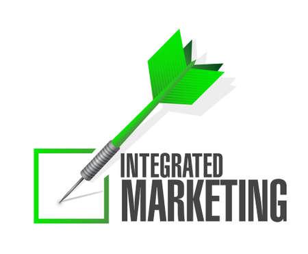 internet mark: Integrated Marketing check dart sign concept illustration design graphic icon Illustration