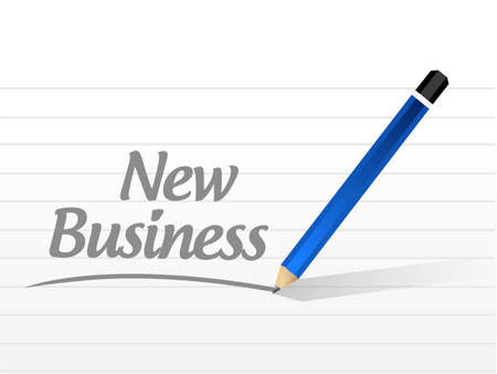 new business: new business message sign concept illustration design graphic
