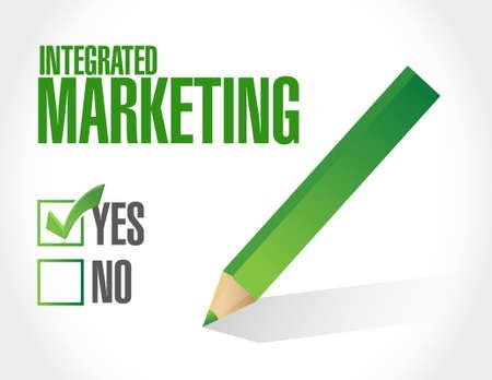 Integrated Marketing approval sign concept illustration design graphic icon Ilustração
