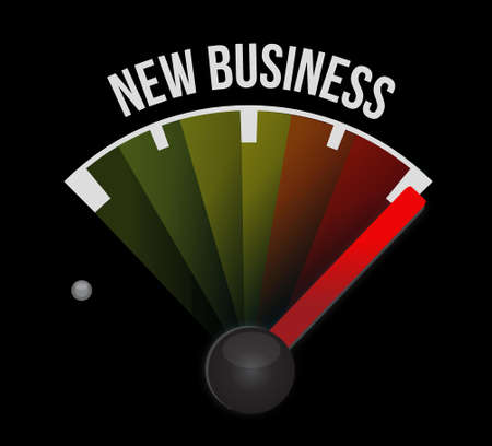 new business: new business meter sign concept illustration design graphic