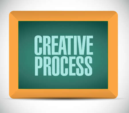 briefing: creative process board sign concept illustration design Illustration