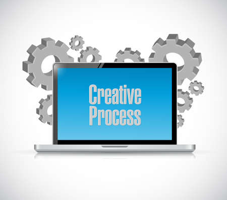 briefing: creative process tech computer sign concept illustration design