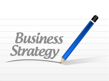 Business Strategy message sign concept illustration design graphic Ilustrace