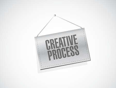 창의적인 프로세스 배너 기호 개념 그림 디자인