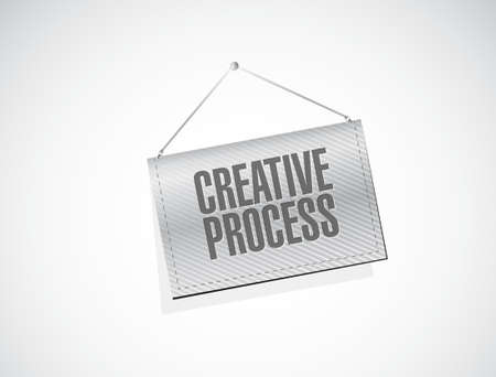 briefing: creative process banner sign concept illustration design