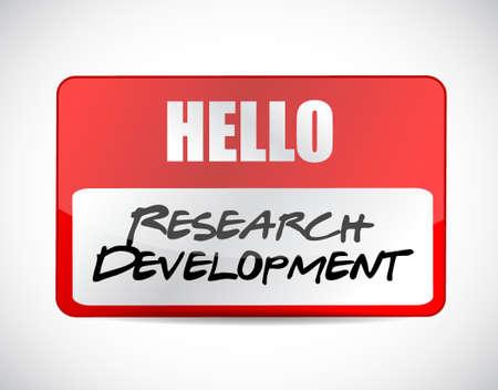 research development name tag sign concept illustration design icon graphic