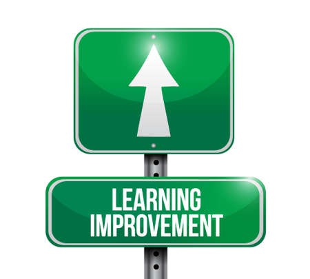 executives: Learning improvement road sign concept illustration design graphic icon Illustration