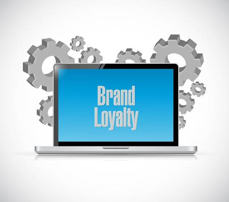 repurchase: brand loyalty tech computer sign concept illustration design graphic