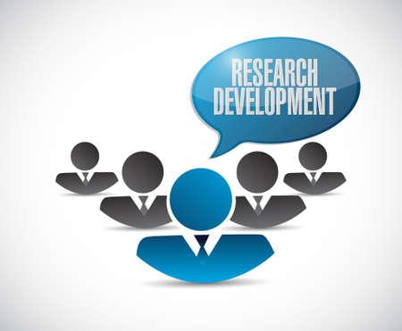 research development teamwork sign concept illustration design icon graphic