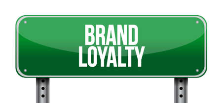 lealtad: brand loyalty road sign concept illustration design graphic