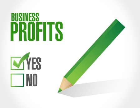 profits: Business profits approval sign illustration design graphic icon
