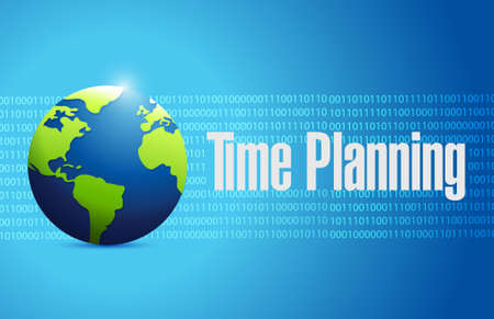 prioritizing: time planning global binary sign concept illustration design graphic