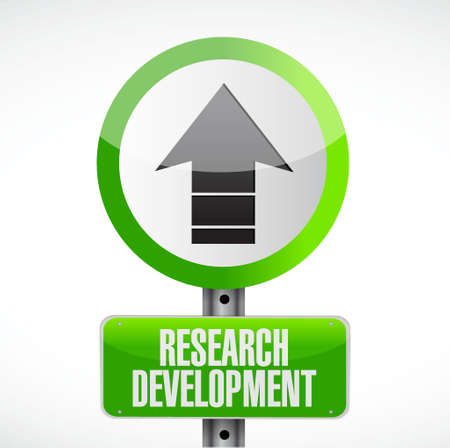 smart goals: research development road sign concept illustration design icon graphic