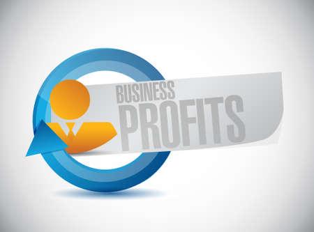 profits: Business profits avatar sign concept illustration design graphic icon