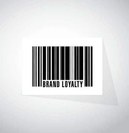 repurchase: brand loyalty barcode upc sign concept illustration design graphic Illustration