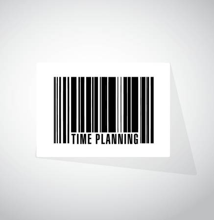 prioritizing: time planning barcode upc code sign concept illustration design graphic