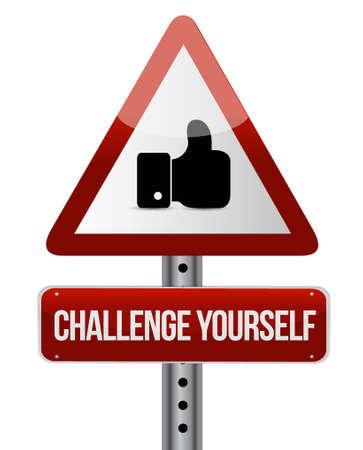 Challenge Yourself like sign concept illustration design graphic