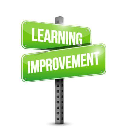 Learning improvement road sign concept illustration design graphic icon Stock Illustratie