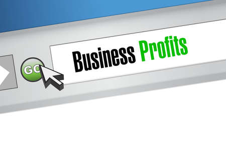 profits: Business profits online sign concept illustration design graphic icon