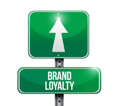 repurchase: brand loyalty road sign concept illustration design graphic