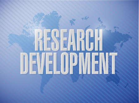 research development world map sign concept illustration design icon graphic