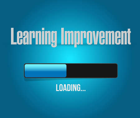 Learning improvement loading bar sign concept illustration design graphic icon