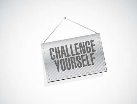 CHallenge Yourself banner sign concept illustration design graphic
