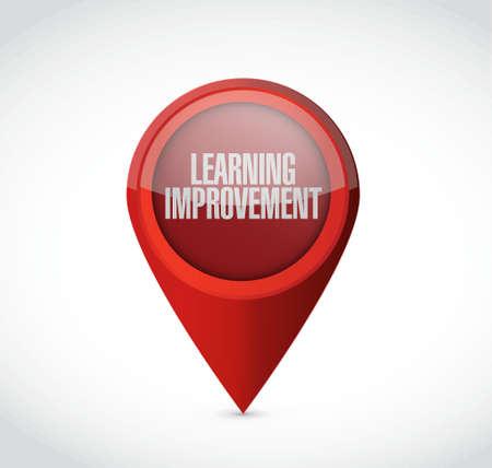 enseñanza: El aprendizaje mejora puntero signo concepto de ilustración, diseño gráfico del icono Vectores