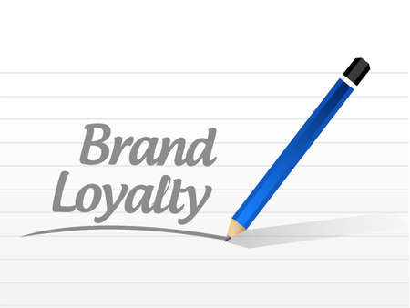 brand loyalty message sign concept illustration design graphic