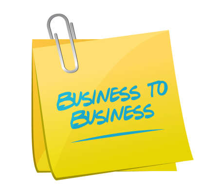 b2b: business to business memo post sign concept illustration design graphic