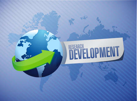 research paper: research development international sign concept illustration design icon graphic