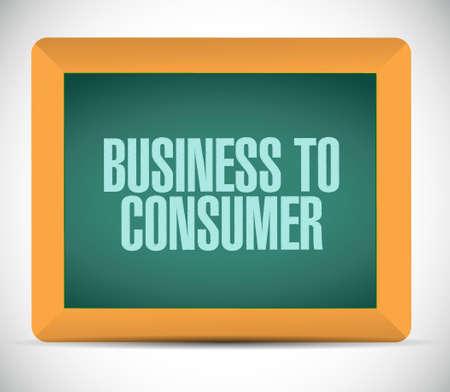 consumer: business to consumer board sign concept illustration design graphic Illustration