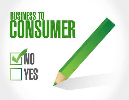 no business to consumer sign concept illustration design graphic Stock Illustratie