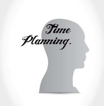 prioritizing: time planning head sign concept illustration design graphic Illustration