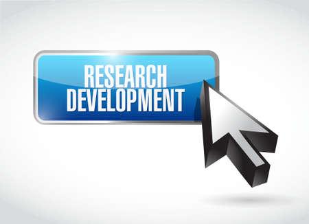 research development button sign concept illustration design icon graphic